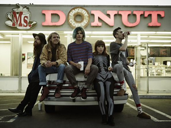 Christian Zucconi and his bandmates in Grouplove