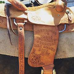 Clifton's saddle holds a special tribute.