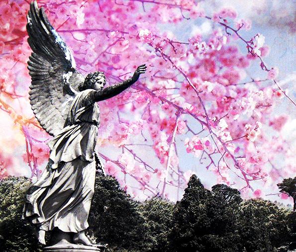 "A piece from Rick Allen's ""Angels"" series."