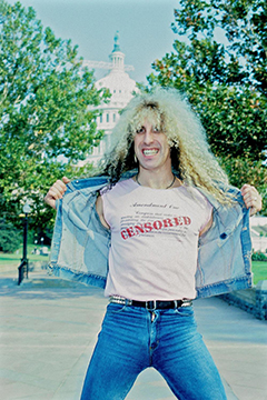 Dee Snider in 1985 on Capitol Hill.
