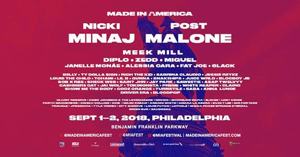 MADE IN AMERICA 2018 Festival Lineup Announced Nicki