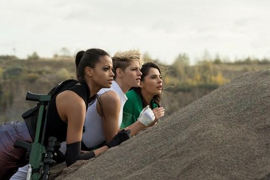 Ella Balinska, Kristen Stewart and Naomi Scott star in Charlie's Angels.