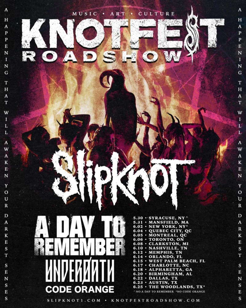 Knotfest Roadshow tour poster