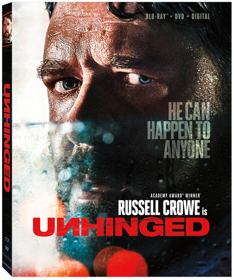 UNHINGED on Blu-ray starring Russell Crowe
