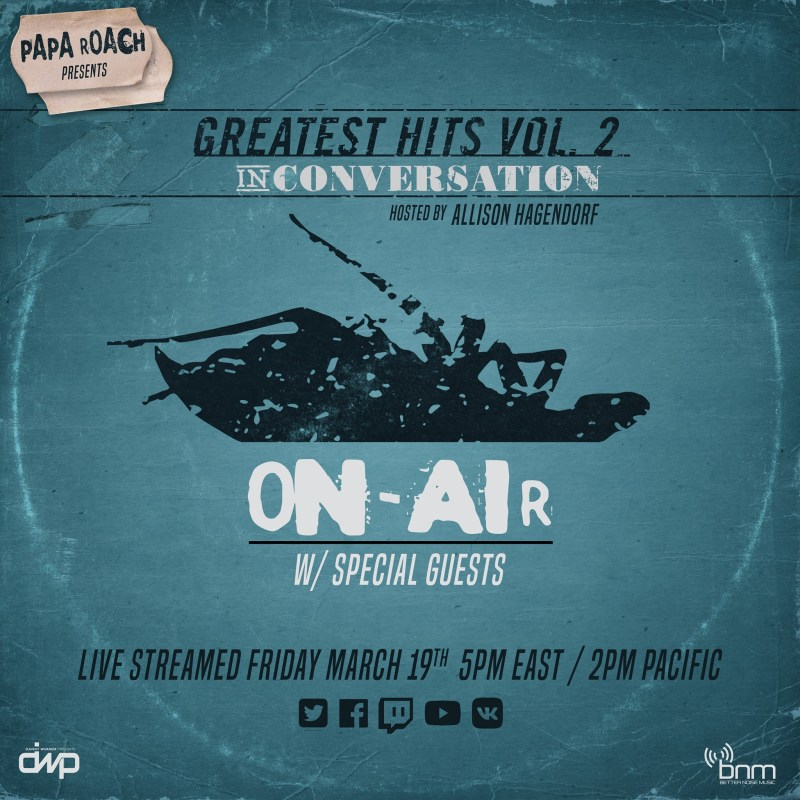 """PAPA ROACH ANNOUNCE """"GREATEST HITS VOL. 2: IN CONVERSATION"""" LIVESTREAM EVENT"""