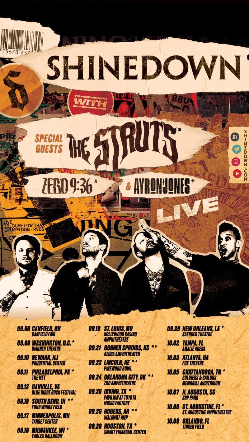 Shinedown - 2021 Tour