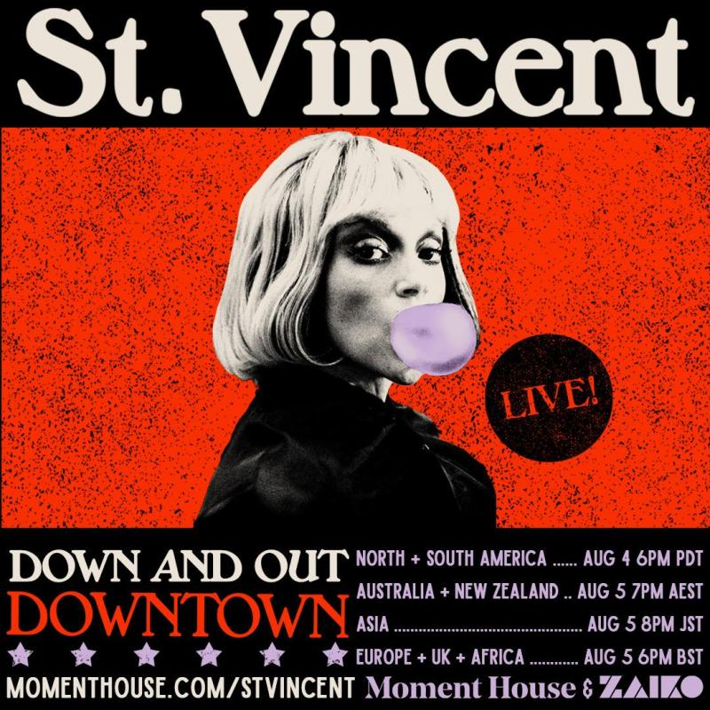 St. Vincent Announces Down And Out Downtown