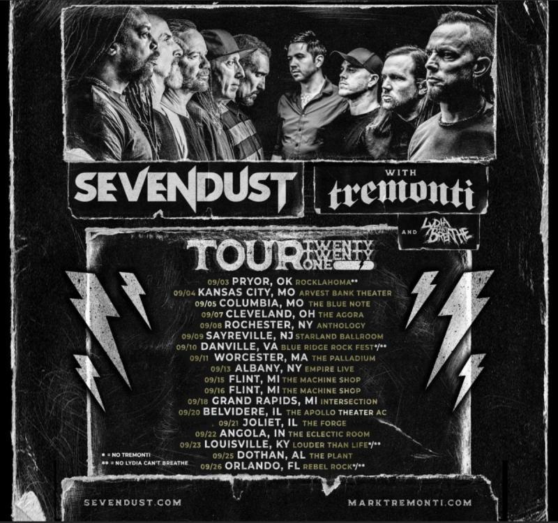 Mark Tremonti tour dates