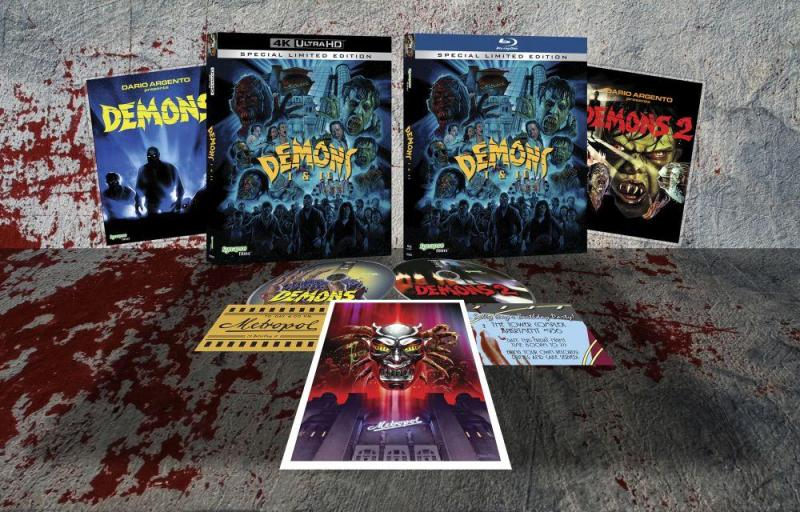 DEMONS and DEMONS 2 UHD from Synapse Films