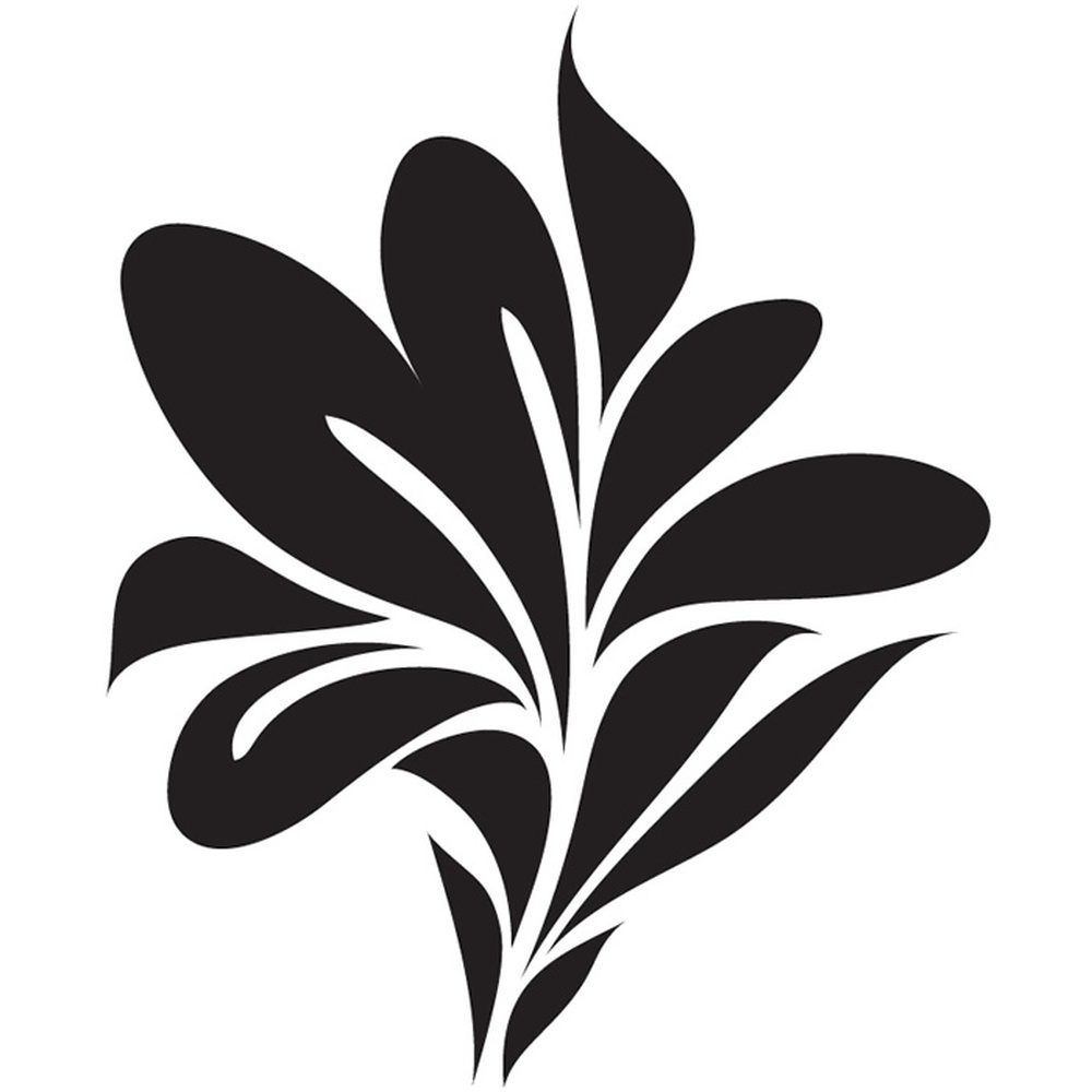 Leaf Print Wall Stickers Floral Wall Decal Art