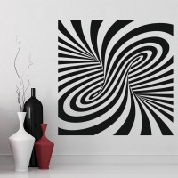 Twisted Wall Sticker Optical Illusion Wall Art