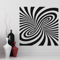 Twisted Wall Sticker Optical Illusion Wall Art