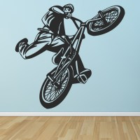 BMX Jump Wall Sticker Bike Wall Art