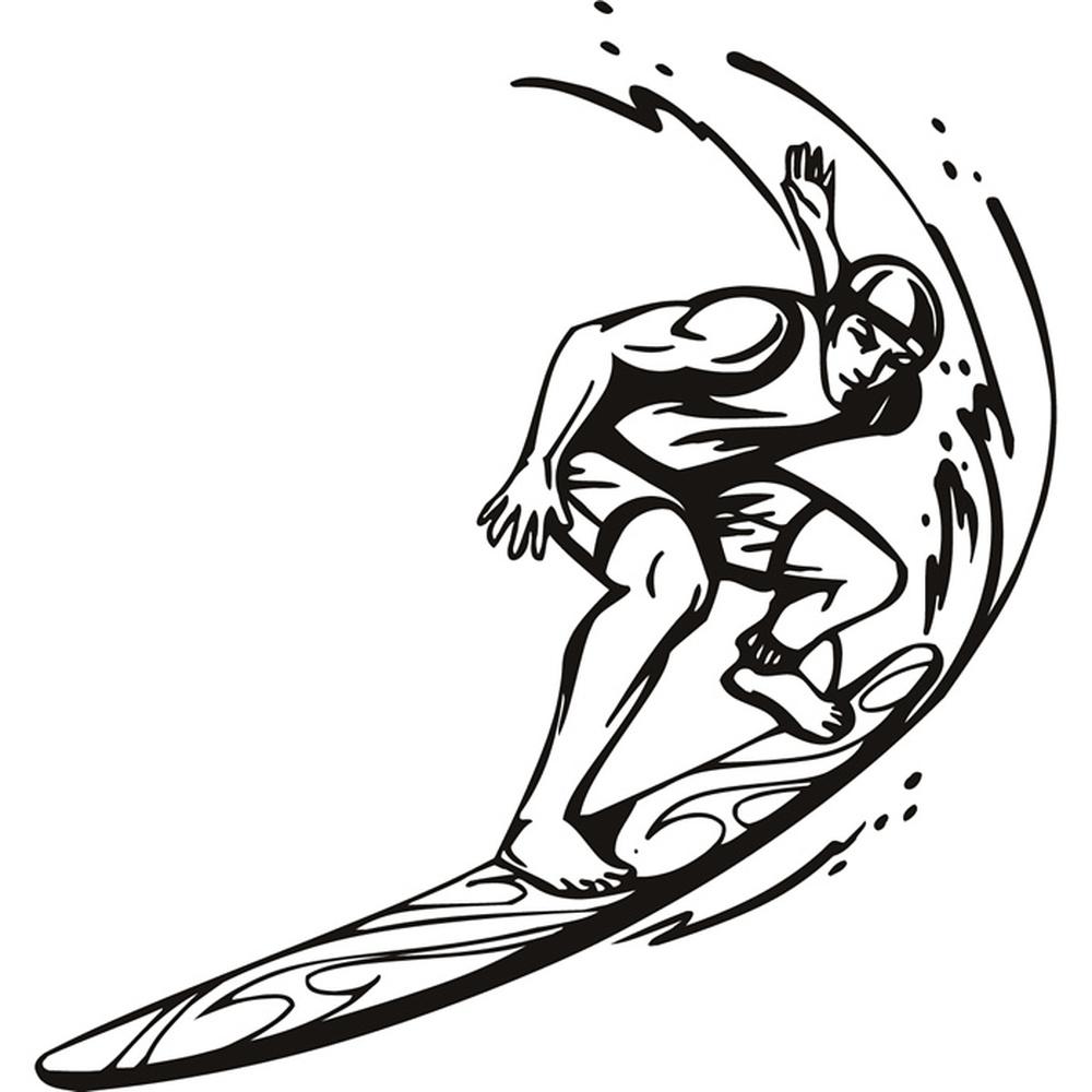 Surfing Wall Sticker Sport Wall Art