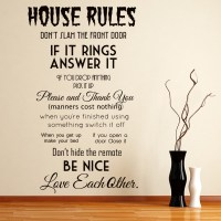 House rules Wall Sticker Home Wall Art