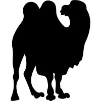Simple Camel Silhouette Wall Sticker Animal Wall Art