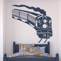 Curved Steam Train Wall Sticker Train Wall Art