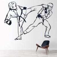 Karate Kick Wall Sticker Martial Arts Wall Art