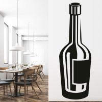 Wine Bottle Print Wall Sticker Wine Wall Art