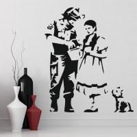 Dorothy Toto Oz Wall Sticker Banksy Wall Decal Graffiti ...