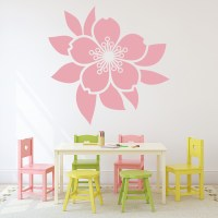 Flower And Leaf Centrepiece Wall Sticker Floral Wall Art