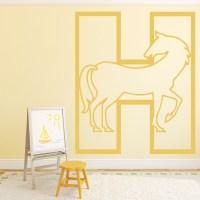 Horse Alphabet Wall Sticker Educational Wall Art
