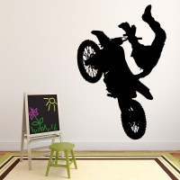 Dirt Bike Jump Wall Sticker Motorbike Wall Decal Boys ...