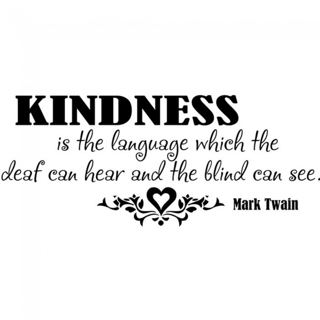 Mark Twain Quote Wall Sticker Kindness Wall Art