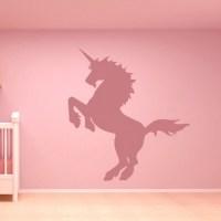 Rearing Unicorn Wall Sticker Fantasy Wall Art