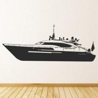 Motor Boat Yacht Wall Sticker Boat Wall Art