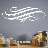 Elegant Swirl Wall Sticker Embellishment Wall Art