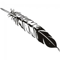 Birds Feather Wall Sticker Animal Wall Art