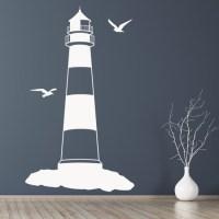 Lighthouse Wall Sticker Beach Nautical Wall Decal Bathroom ...