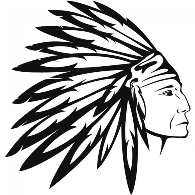 Native American Wall Sticker Indian Headdress Wall Decal Boys