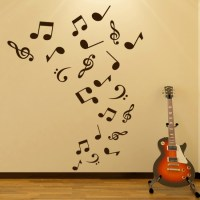 Musical Notes Wall Sticker Music Wall Decal Kids Bedroom ...
