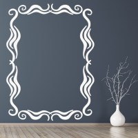 Swirl Rectangular Frame Wall Sticker Decorative Wall Art