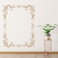 Rectangular Frame Wall Sticker Patterned Wall Art