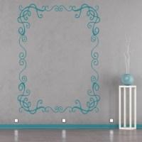 Rectangular Frame Wall Sticker Patterned Wall Art