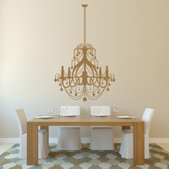 Grand Chandelier Elegant Dining Room Wall Stickers Home