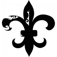 Floral Fleur De Lis Wall Sticker Decorative Wall Art