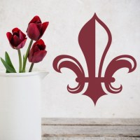 Bold Fleur De Lis Wall Stickers Decorative Wall Art