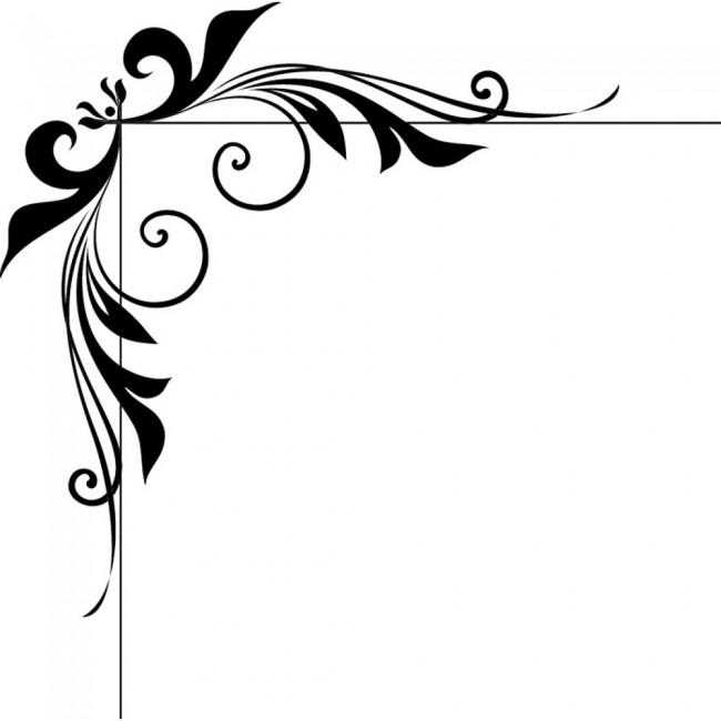 Vans Wallpaper For Girls Floral Corner Swirl Wall Sticker Embellishment Wall Art