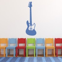 Electric Guitar Wall Sticker Musical Instrument Wall Decal ...