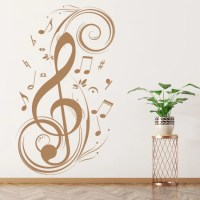 Treble Clef Wall Sticker Musical Notes Wall Decal Music ...