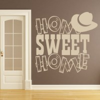 Home Sweet Home Wall Sticker Cowboy Wall Art