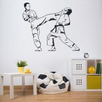 Judo Karate Wall Sticker Martial Arts Wall Decal Boys ...