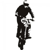 Motorbike Wall Sticker Dirt Bike Jump Wall Decal Boys ...