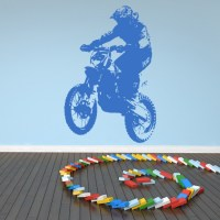 Dirt Bike Rider Wall Sticker Motorbike Wall Decal Boys ...