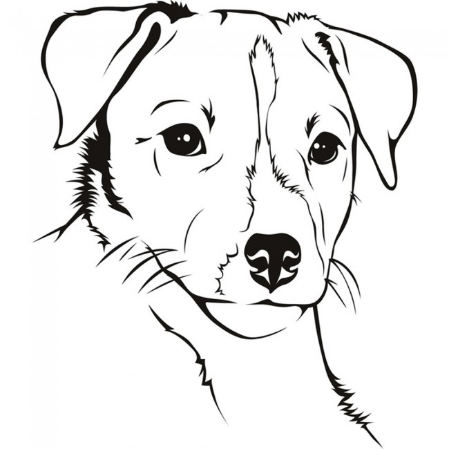 Jack Russel Dog Wall Sticker Animal Pets Wall Decal Kids