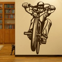 BMX Rider Wall Stickers Bike Wall Art